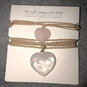 NWT J. Jill Quartz Heart Necklace Set